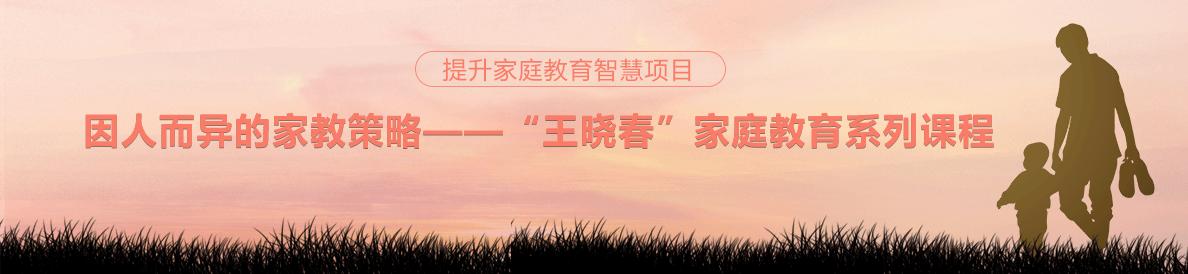 """因人而异的家教策略——""""王晓春""""家庭教育系列课程"""